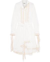 Vestito chemisier bianco di Loewe
