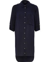 Vestito chemisier blu scuro