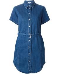 Vestito chemisier di jeans blu
