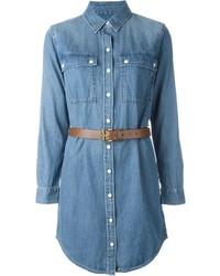 Vestito chemisier di jeans blu di Michael Kors