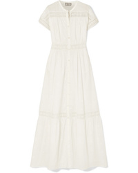 Vestito chemisier ricamato bianco di Paul & Joe