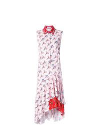Vestito chemisier stampato bianco di Preen by Thornton Bregazzi