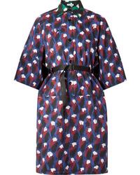 Vestito chemisier stampato blu scuro di Tomas Maier