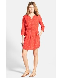 Vestito chemisier stampato rosso