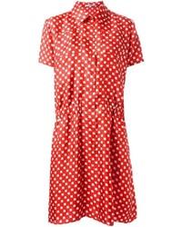Vestito chemisier stampato rosso di Carven