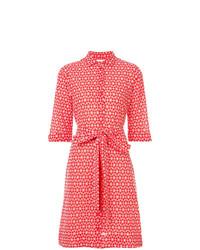 Vestito chemisier stampato rosso di Lisa Marie Fernandez