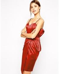Vestito da cocktail di raso rosso di Asos