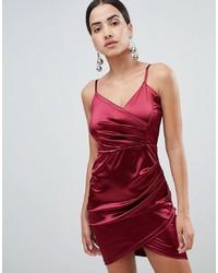 Vestito da cocktail di raso rosso di AX Paris