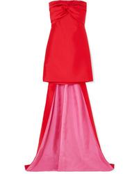 Vestito da cocktail di raso rosso di Reem Acra