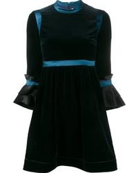 Vestito da cocktail di velluto blu scuro di Roksanda