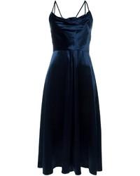 Vestito da cocktail di velluto blu scuro di Valentino