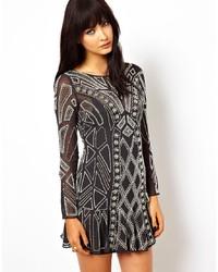 Vestito da cocktail geometrico nero di Needle & Thread