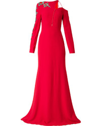 Vestito da sera decorato rosso di Antonio Berardi