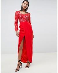 Vestito da sera decorato rosso di Virgos Lounge