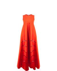 Vestito da sera tagliato rosso di Maison Rabih Kayrouz