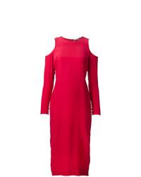 Vestito da sera tagliato rosso di Piamita