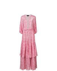 Vestito da spiaggia a fiori rosa di Saloni