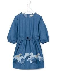 Vestito di jeans stampato blu di Stella McCartney