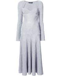 Vestito di lana lavorato a maglia grigio di Alexander McQueen