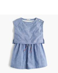 Vestito di lino azzurro