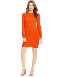 Vestito di maglia arancione