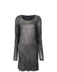 Vestito di maglia argento