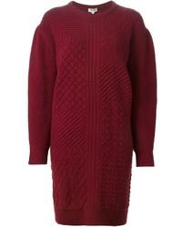 Vestito di maglia bordeaux