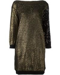 Vestito di maglia dorato