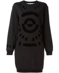 Vestito di maglia geometrico nero di McQ by Alexander McQueen