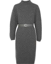 Vestito di maglia grigio scuro