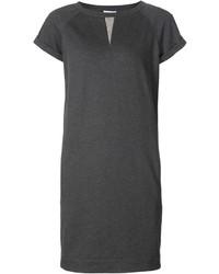 Vestito di maglia grigio scuro di Brunello Cucinelli