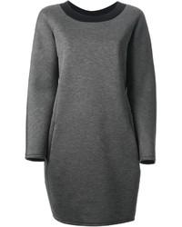 Vestito di maglia grigio scuro di Jil Sander