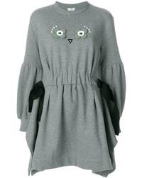 Vestito di maglia grigio di Fendi