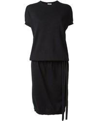 Vestito di maglia nero di Brunello Cucinelli