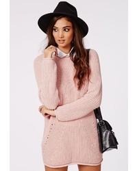 Vestito di maglia rosa
