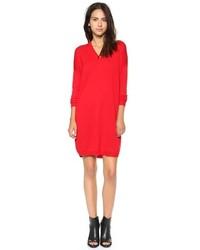 Vestito di maglia rosso