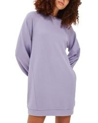Vestito di maglia viola chiaro