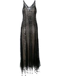 Vestito di pizzo nero di Alexander McQueen