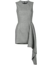 Vestito di seta grigio di Alexander McQueen
