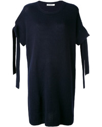 Vestito in cashmere blu scuro di Jil Sander