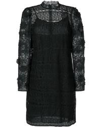 Vestito in rete a fiori nero di Michael Kors