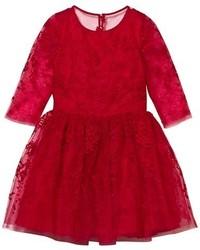 Vestito in tulle rosso