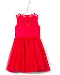 Vestito in tulle rosso di Armani Junior