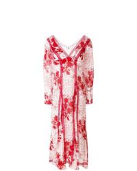 ... Vestito longuette a fiori bianco e rosso di Ermanno Scervino bc1bc938c16