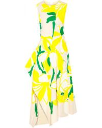 Vestito longuette a fiori giallo