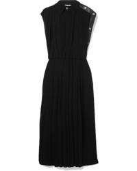 Vestito longuette a pieghe nero di Givenchy