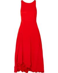 Vestito longuette a pieghe rosso di 3.1 Phillip Lim
