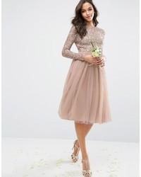 e2d398b803f6c ... Vestito longuette con paillettes rosa di Maya ...