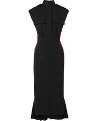 Vestito longuette di lana nero di Alexander McQueen