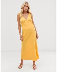 Vestito longuette giallo di Vero Moda